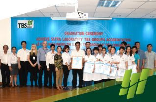 TBS Group honorly received the certificate of SATRA Techonology Center