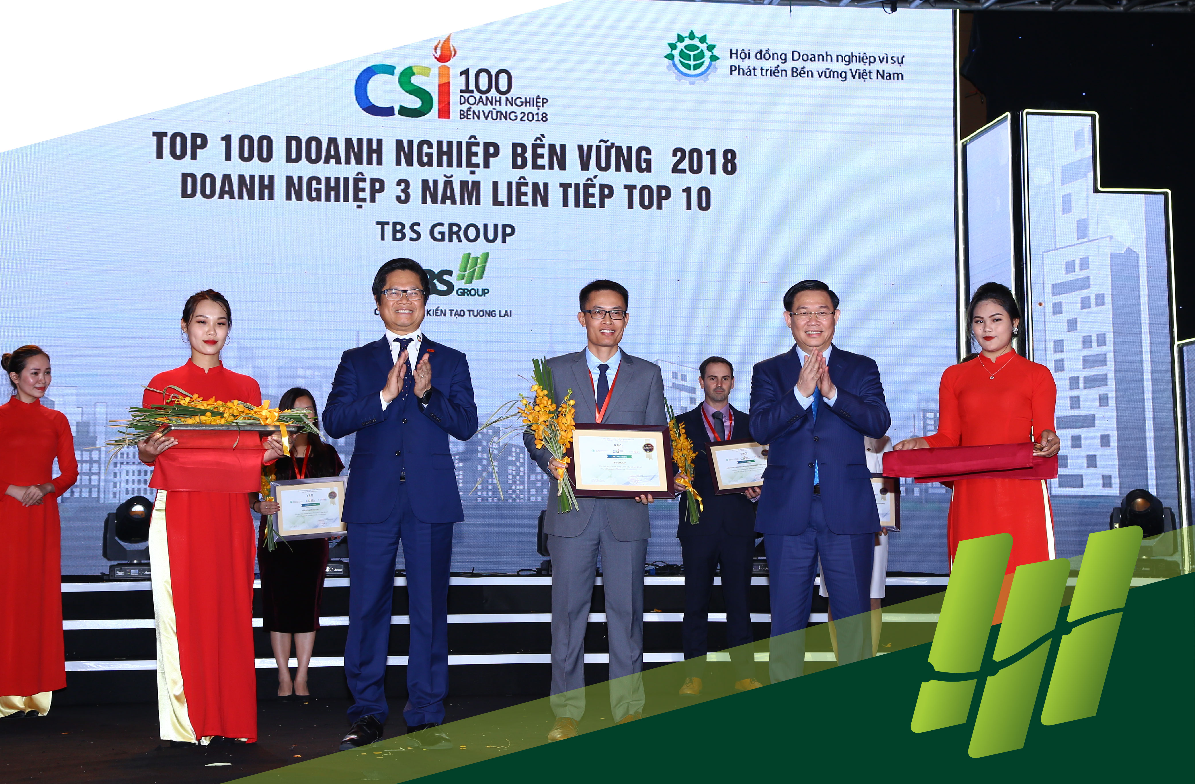 TBS GROUP – Three consecutive years of TOP 10 Vietnam Sustainable Enterprise